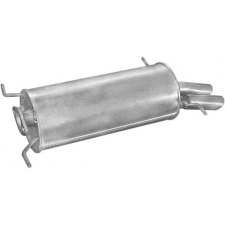 Глушитель Мазда 626 (Mazda 626) 2,0iGT-16V 87-91 (12.97) Polmostrow алюминизированный