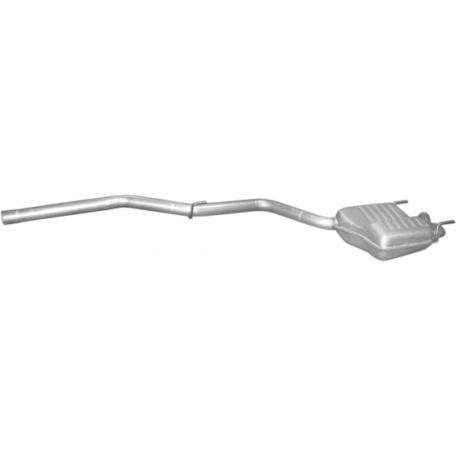 Глушитель Мерседес С250 (Mercedes С250) 2.5D 95-01 (13.186) Polmostrow алюминизированный
