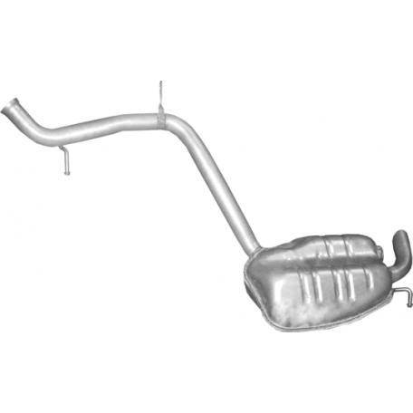Глушитель задний (конечный, основной) Мерседес E-Class E400 - W211 (Mercedes E-Class E400 - W211) - (13.32) Polmostrow