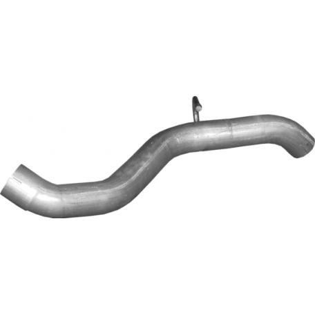 Выхлопная труба Мерседес ML350 - W163 (Mercedes ML350 - W163) 3.7 02 - 05 (13.87) Polmostrow алюминизированная