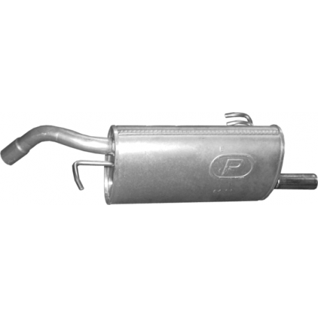 Глушитель Митсубиси Кольт/Смарт Форфоур (Mitsubishi Colt/SMART FORFOUR) (14.11) 88-92 1.1/1.3/1.4 04 Polmostrow алюминизированный