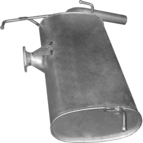 Глушитель Митсубиси Лансер (Mitsubishi Lancer) 08-10 1.5i/1.6i (14.60)  Polmostrow алюминизированный