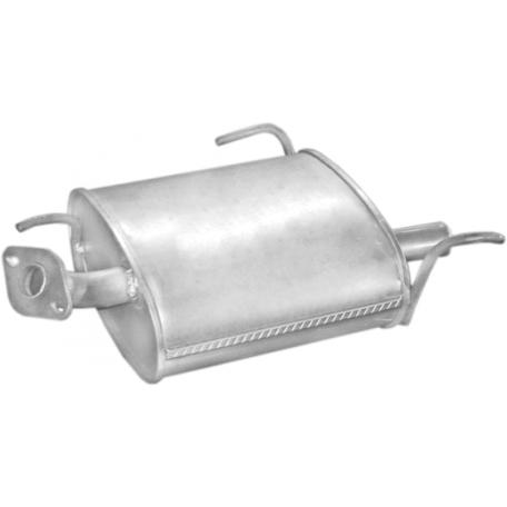 Глушитель Ниссан Альмера (Nissan Almera) 1.4i/1.6i/2.0D 07/95-04/00 (15.07) Polmostrow алюминизированный