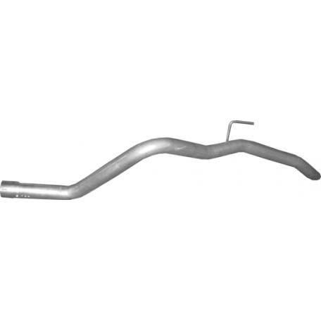 Труба конечная Ниссан Навара (NISSAN NAVARA) 2.5 D 05 (15.214) Polmostrow алюминизированный
