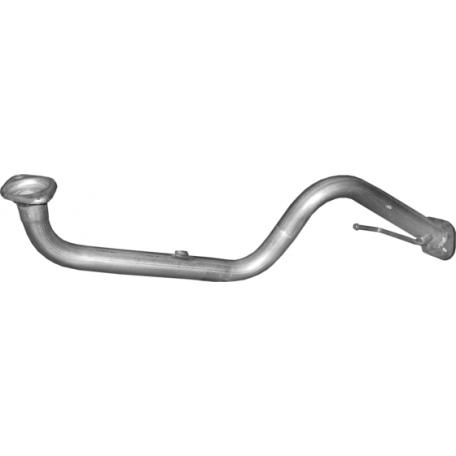 Приемная труба Ниссан Ноут (Nissan Note) / Нисан Микра (Nisan Micra)  1.4 /03-12/ (15.230) Polmostrow алюминизированный