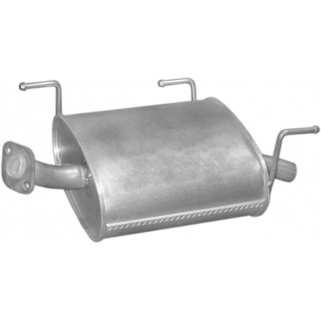 Глушитель Ниссан Альмера (Nissan Almera) 1.5/1.8i -16V 00-06 (15.369) Polmostrow алюминизированный