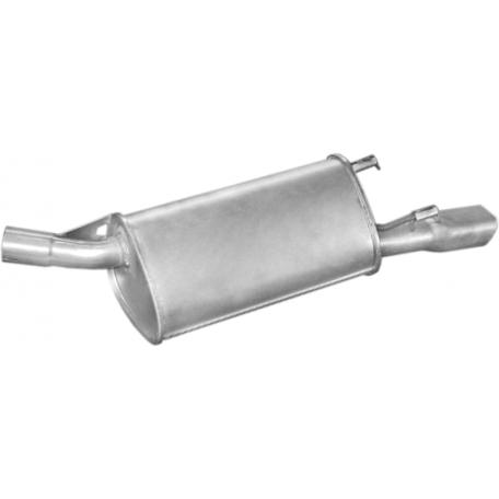 Глушитель Опель Корса Б (Opel Corsa B) 1.4i; 1.6i 16v kat 90-97 (17.136) Polmostrow алюминизированный