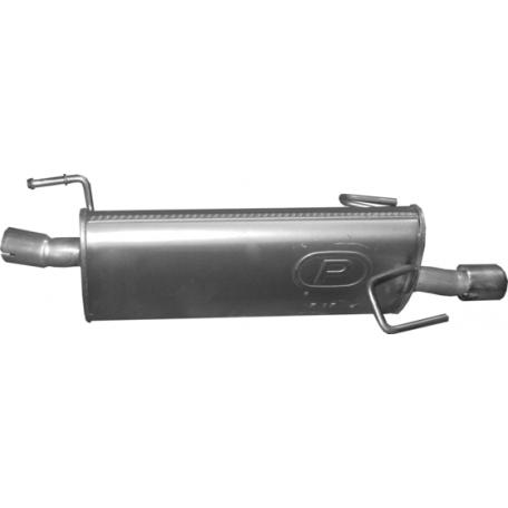 Резонатор для Opel Meriva A 1.8i-16V MPV 05/03-05/10 (17.17) Polmostrow алюминизированный
