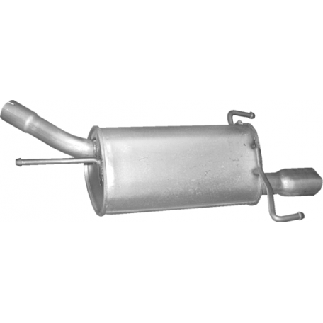 Глушитель Опель Корса С (Opel Corsa С) 1.8; Опель Тигра (Opel Tigra) 1.8 (17.266) Polmostrow алюминизированный