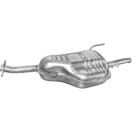 Глушитель Опель Астра Г (Opel Astra G) 1.4/1.6i -8/16V kombi 98-04 (17.295) Polmostrow алюминизированный