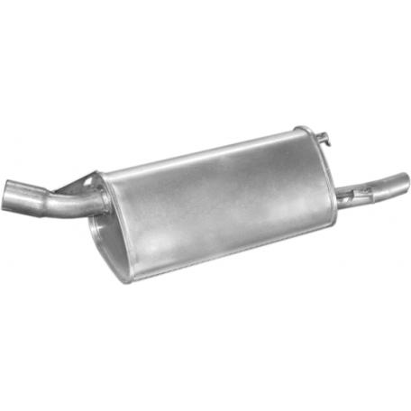Глушитель Опель Корса Б (Opel Corsa B) 1.2/1.5D/TD kat 93- (17.42) Polmostrow алюминизированный