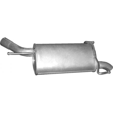 Глушитель Опель Корса С (Opel Corsa С) 1.7 CDTi Turbo Diesel Hatchback 06/03-07/06 (17.544) Polmostrow алюминизированный