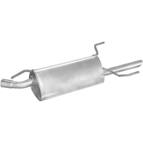 Глушитель Опель Вектра Б (Opel Vectra B) 1.7TD kat 95-97 (17.55) Polmostrow алюминизированный