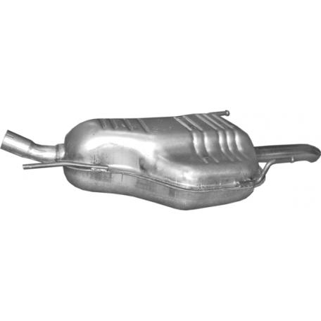 Глушитель Опель Зафира А (Opel Zafira A) 1.8 03 -05 (17.625) Polmostrow алюминизированный