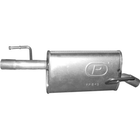 Глушитель Опель Мерива А (Opel Meriva A) 1.6 D CDTi TD 05-10 (17.643) Polmostrow алюминизированный