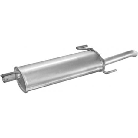 Глушитель Опель Астра (Opel Astra) 1.4i; 1.4i -16V; 1.6i; 1.6i -16V SDN 96-98 (17.76) Polmostrow алюминизированный