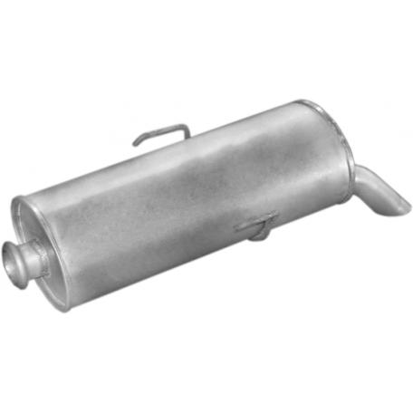 Глушитель Пежо 106 (Peugeot 106) 1.5D kat 92 -04 (19.06) Polmostrow алюминизированный