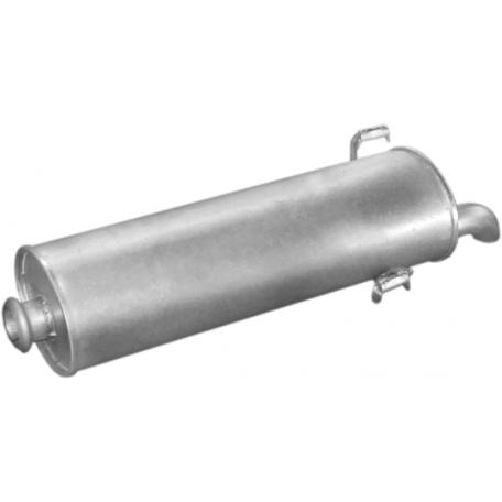 Глушитель Пежо 306 (Peugeot 306) 1.4-1.8/1.9D 3/5D 93- (19.08) Polmostrow алюминизированный
