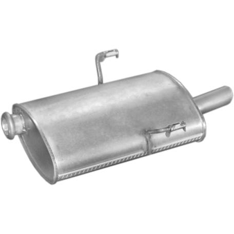 Глушитель Пежо 406 (Peugeot 406) 1.6i/1.8i 16V kat 95- (19.15) Polmostrow алюминизированный