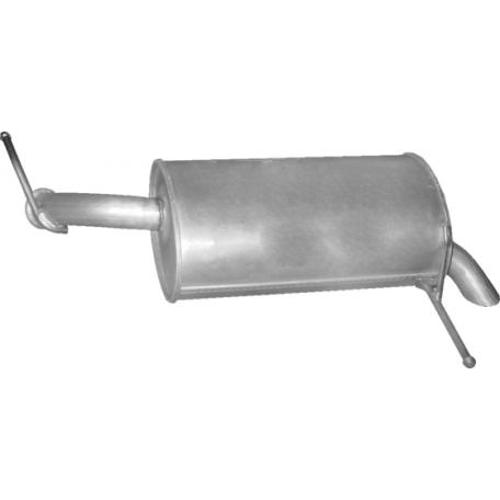 Глушитель Пежо 407 (Peugeot 407) 1.8 04-07 (19.161) Polmostrow алюминизированный