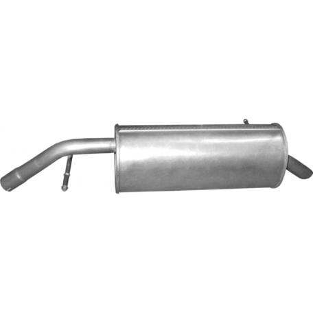 Глушитель Пежо 207 (Peugeot 207) 1.4 06-08 (19.186) Polmostrow алюминизированный