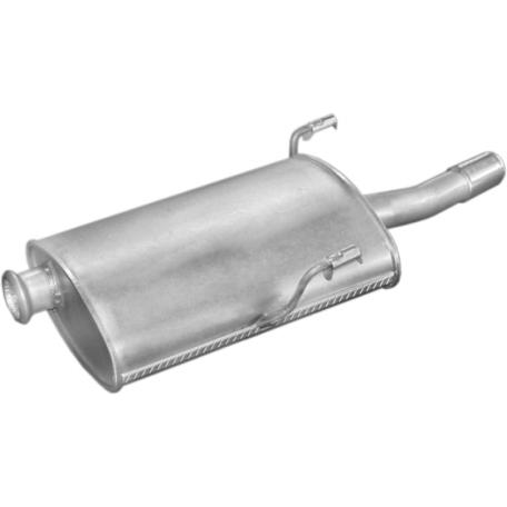 Глушитель Пежо 406 (Peugeot 406) 1.6i/1.8i kombi kat 96- (19.190) Polmostrow алюминизированный