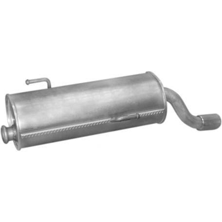 Глушитель Пежо 206 (Peugeot 206) 1.4/1.6 98- (19.198) Polmostrow алюминизированный