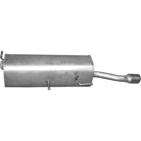 Глушитель Пежо 307 (Peugeot 307) 1.6i-16V 01- (19.206) Polmostrow алюминизированный
