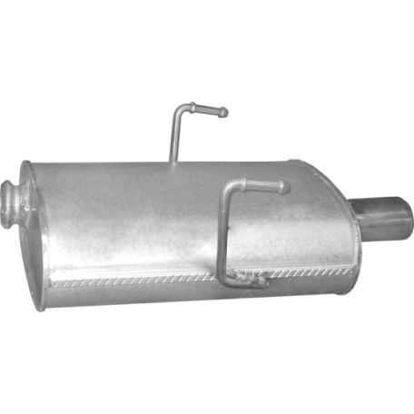 Глушитель Пежо 406 (Peugeot 406) 2.0 16V 97 - 04 (19.212) Polmostrow алюминизированный
