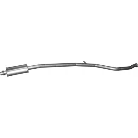 Резонатор Пежо 206 (Peugeot 206) 1.6i -16V (cabrio / coupe) 00 - 05 (19.215) Polmostrow алюминизированный