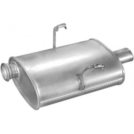 Глушитель Пежо 406 (Peugeot 406) 3.0 -24V 08/95 -12/99 (19.218) Polmostrow алюминизированный