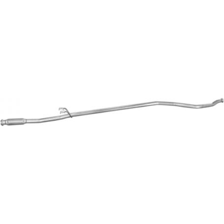 Приемная труба Пежо 206 (Peugeot 206) 1.4 HDi TD 01 -03/03 (19.404) Polmostrow алюминизированный