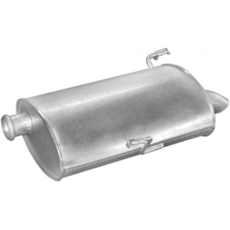 Глушитель Пежо 206 (Peugeot 206) 1.6/2.0 ТD 01 - 07 (19.503) Polmostrow алюминизированный