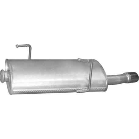 Глушитель Пежо 206 (Peugeot 206) 2.0 16V 99 -07 (19.507) Polmostrow алюминизированный