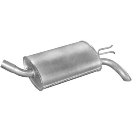 Глушитель Рено Твинго (Renault Twingo) 1.1; 1.2 +/-kat 93-98 (21.272) Polmostrow алюминизированный