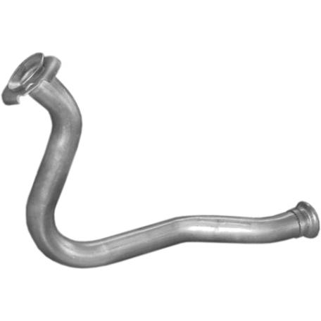 Приемная труба Рено Р19 (Renault R19) 1.7; 1.9D Chamade Diesel 88-96 (21.404) Polmostrow алюминизированный