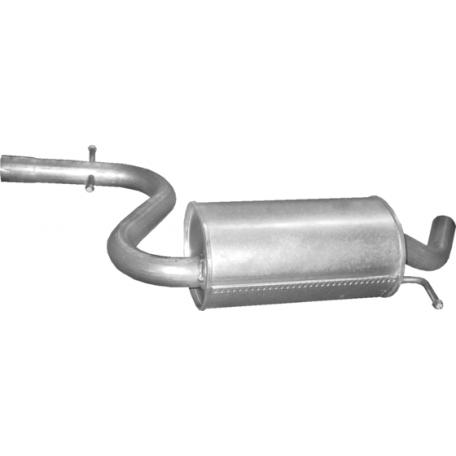 Резонатор Сеат Алтея/Леон (Seat Altea / Leon) 1.4 Tsi /2007 - 12/2012 (23.87) Polmostrow алюминизированный