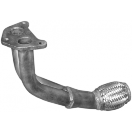 Приемная труба без катализатора Шкода Октавия (Skoda Octavia) 1.4 1.6 55kW (24.56) Polmostrow алюминизированный