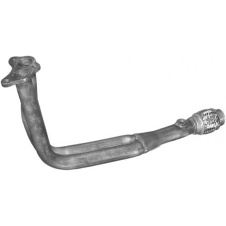 Приемная труба без катализатора Шкода Фелиция (Skoda Felicia) 1.6i 10/94-01 (24.58) Polmostrow алюминизированный