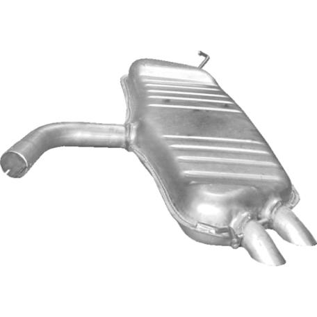 Глушитель Фольксваген Туран (Volkswagen Touran) 9 TDi TD 05/04- (30.148) Polmostrow алюминизированный