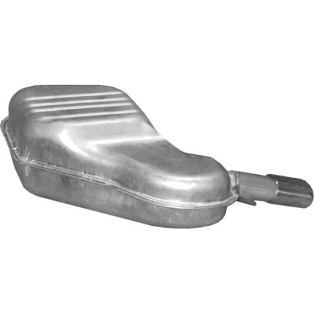 Глушитель Вольво С60 (Volvo S60) (31.255) 2.0/2.3/2.4/2.4 D/2.5 01-04 Polmostrow алюминизированный