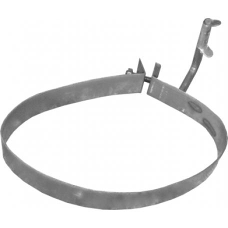 Хомут глушителя Пежо 206/206 СС/206 + (Peugeot 206/206 СС/206 +) 1.4/1.6/2.0 TD 99-10 (50.66) Polmostrow алюминизированный