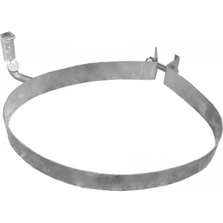 Хомут глушителя Пежо 206/206 СС/206 + (Peugeot 206/206 СС/206 +) 1.4/1.6/2.0 TD 99-10 (50.67) Polmostrow алюминизированный